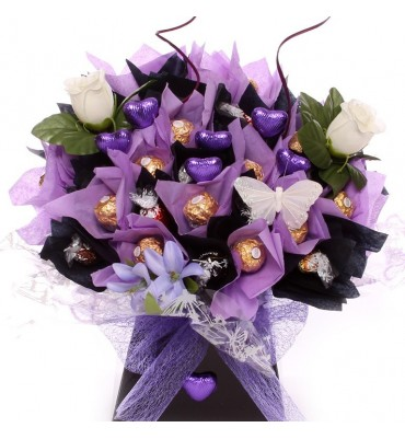 Chocolate Bouquet With Flowers.