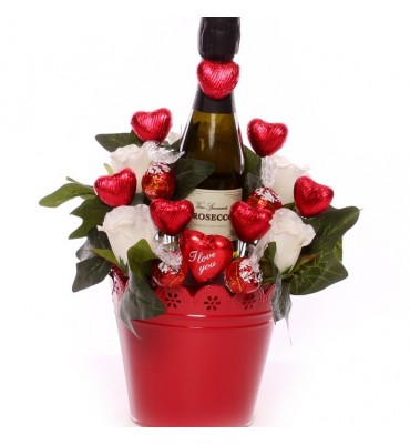 I Love You Prosecco Chocolate Bouquet.