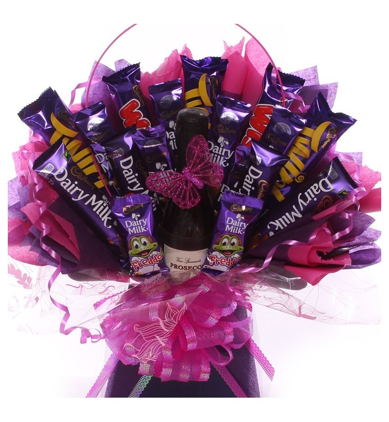Prosecco and Chocolate Bouquet.