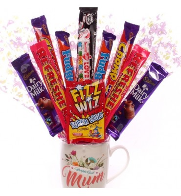 Mother's Day Gift Mug with Chocolate Bouquet