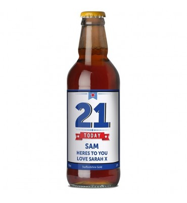 Persoanlised Beer Bottle With Craft Ale.