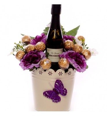 Prosecco And Chocolates Flower Pot.