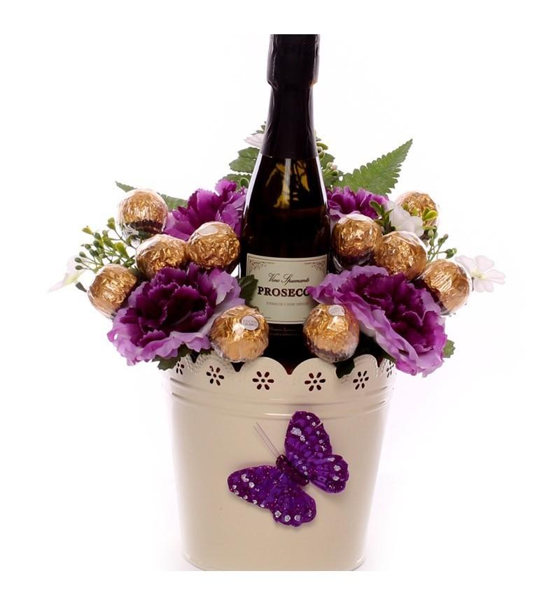 Prosecco And Ferrero Rocher Floral Gift Bouquet