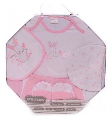 7 Piece Octagonal Box Set For A Baby Girl
