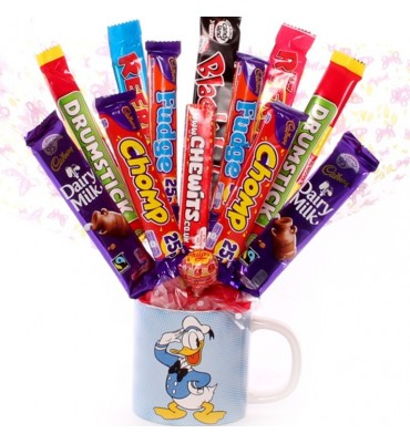 Donald Duck Chocolate Bouquet Mug