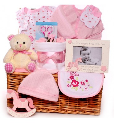 Rocking Horse Baby Hamper Girl
