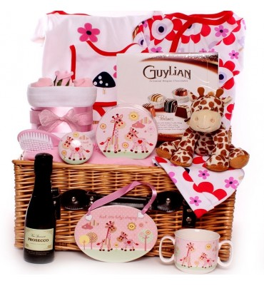 Giraffe Themed Baby Hamper Girl