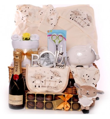 Champagne and Truffles Unisex Baby Hamper.