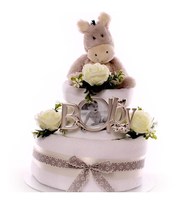 Unisex Donkey Nappy Cake