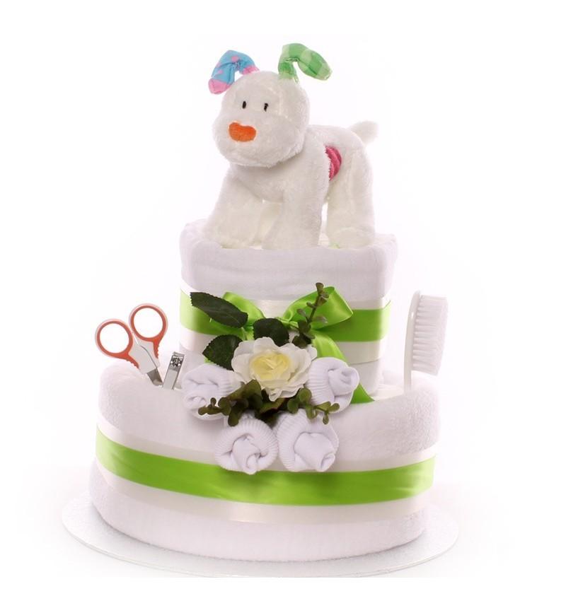 Snow Dog Nappy Cake