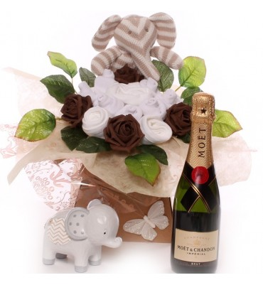 Champagne Baby Bouquet Unisex