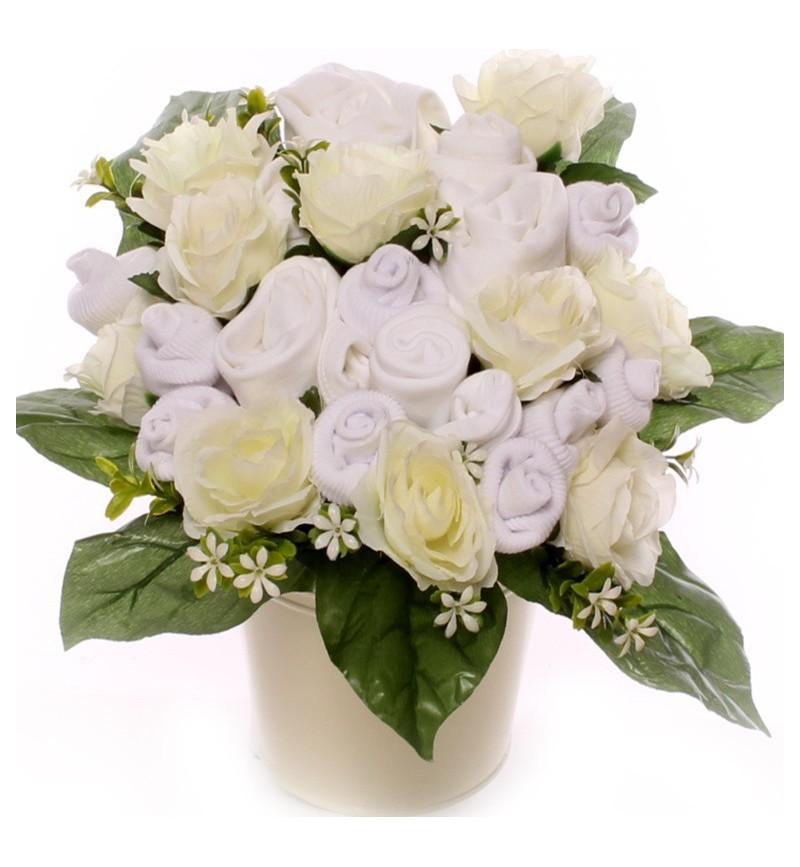 Baby Bouquet Gift Pot Arrangement Unisex.