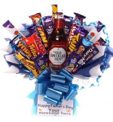 Father's Day Old Specked Hen Ale Chocolate Bouquet.