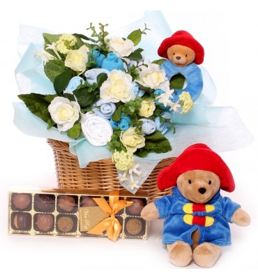 Paddington Bear Baby Bouquet Basket.