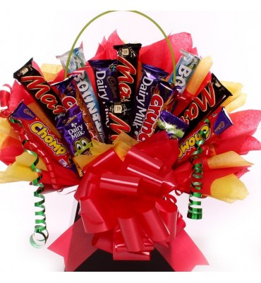 Chocolate Bar Bouquet with Mars Bars and Friends