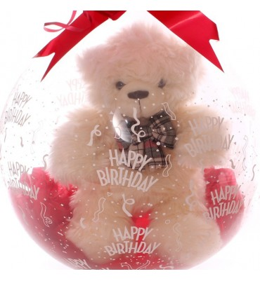 Gift In A Balloon - Cookie Bear Cream