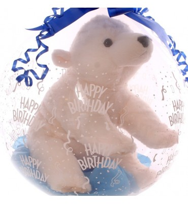 Large Polar Bear In A Gift Balloon.