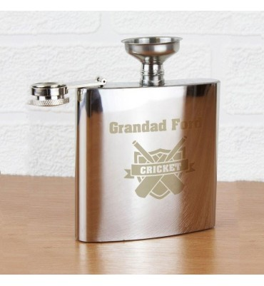 Personalised Cricket Hip Flask