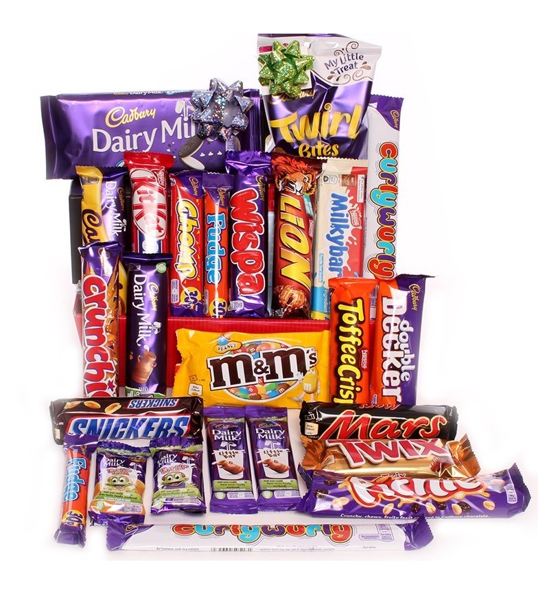 Chocolate hamper Cadbury, Nestle and Mars.