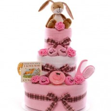 A UK's largest selection of Nappy Cakes for baby girls all handmade and dispatched the same day.