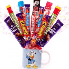Mug with Sweets | Chocolate bouquet in a mug | Mug with Chocolates Gift