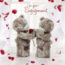Engagement Greetings Card.