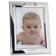 Baby photo frames and personalised baby photo frames.