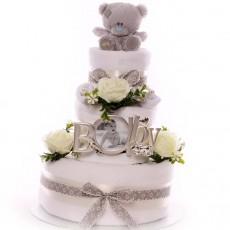 Neutral Nappy Cakes | Unisex Nappy Cakes | Maternity Leave Nappy Cakes | Baby Shower Nappy Cakes | Budget Nappy Cakes |