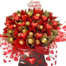 Valentines Chocolate Bouquets.