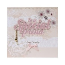 Special friend greetings card.