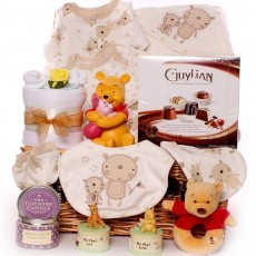 Neutral Baby Hampers | Baby Gift Baskets Unisex | Baby Shower Hamper